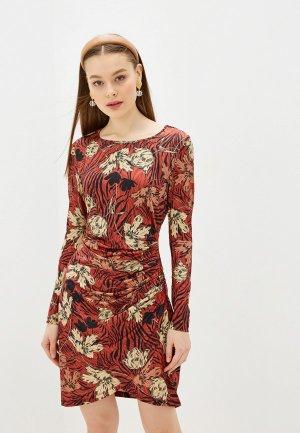 Платье Yumi. Цвет: коричневый