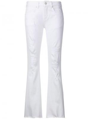 Расклешенные брюки Dondup. Цвет: белый