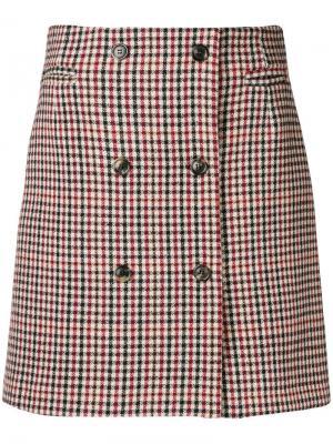 Checked short skirt Mauro Grifoni. Цвет: нейтральные цвета