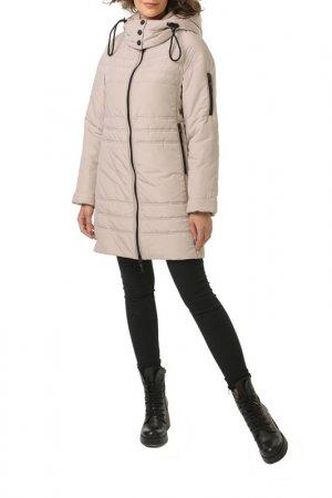 Пальто утепленный DizzyWay. Цвет: бежевый
