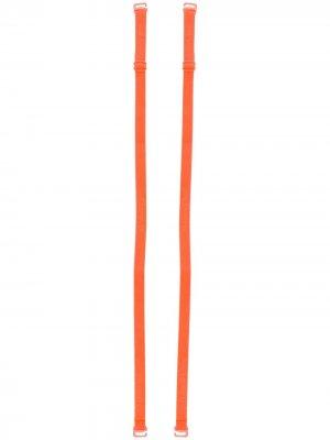 Бретели с логотипом Maison Close. Цвет: оранжевый