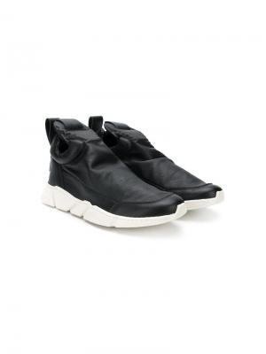 TEEN slip-on low-top sneakers Cinzia Araia Kids. Цвет: черный