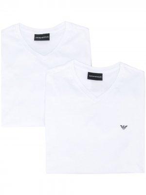 V-neck T-shirt Emporio Armani. Цвет: белый