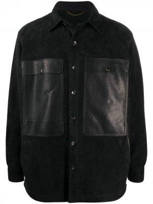 Куртка-рубашка на пуговицах Ajmone. Цвет: черный