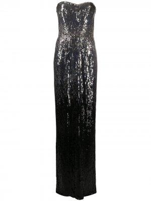 Платье с пайетками Jenny Packham. Цвет: черный