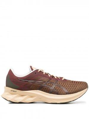 Сетчатые кроссовки ASICS. Цвет: коричневый