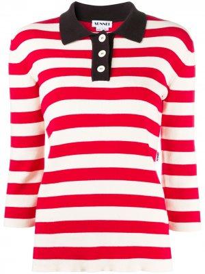 Рубашка поло в полоску Sunnei. Цвет: красный