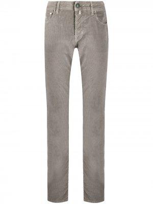 Вельветовые брюки прямого кроя Jacob Cohen. Цвет: нейтральные цвета