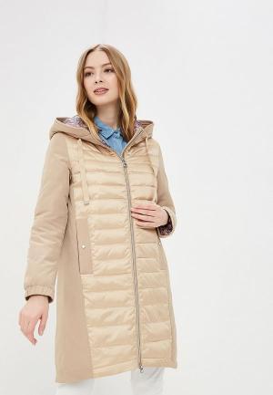 Куртка утепленная Avi. Цвет: бежевый
