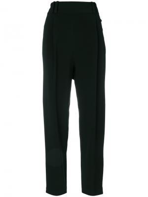 Плиссированные укороченные брюки 3.1 Phillip Lim. Цвет: черный