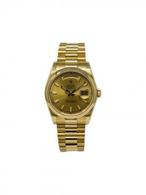 Наручные часы Day-Date pre-owned 36 мм 2018-го года Rolex. Цвет: золотистый