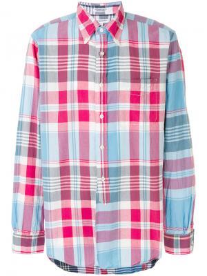 Рубашка в клетку на пуговицах Engineered Garments. Цвет: красный