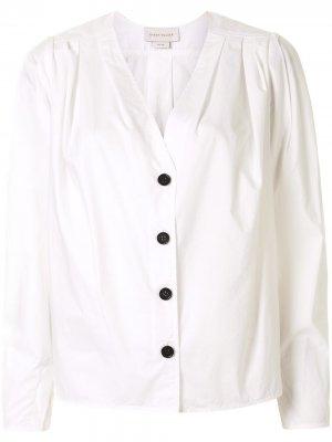 Рубашка Arboretum с V-образным вырезом Karen Walker. Цвет: белый