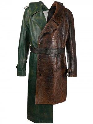 Asymmetric deconstructed trench coat Marni. Цвет: зеленый