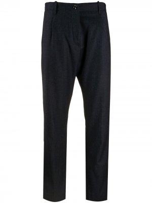 Укороченные брюки средней посадки Nine In The Morning. Цвет: синий