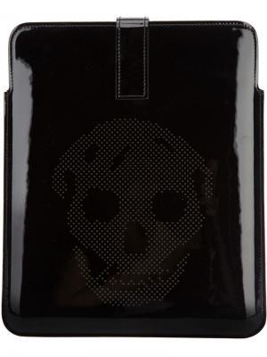 Чехол для планшета Alexander McQueen. Цвет: черный