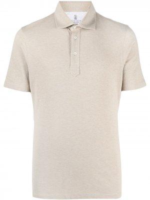 Рубашка поло с короткими рукавами Brunello Cucinelli. Цвет: нейтральные цвета