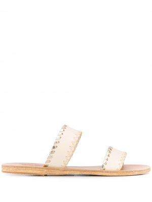 Сандалии Melia с декоративной строчкой Ancient Greek Sandals. Цвет: нейтральные цвета