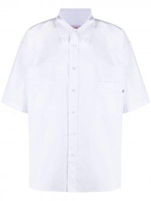 Рубашка с короткими рукавами Martine Rose. Цвет: белый