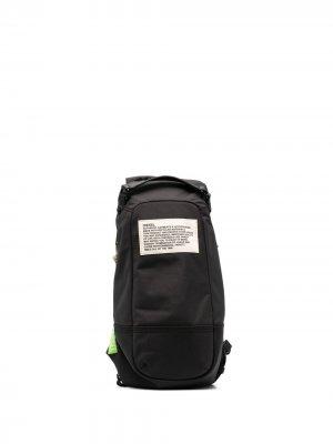 Сумка на плечо с нашивкой-логотипом Diesel. Цвет: черный