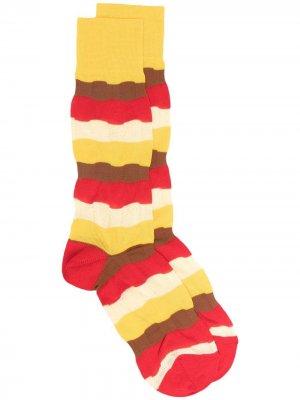 Носки с контрастными полосками Marni. Цвет: желтый