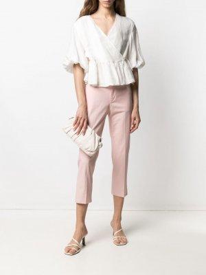 Укороченные брюки кроя слим Dondup. Цвет: розовый