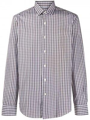 Рубашка в клетку LANVIN. Цвет: серый
