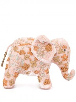Мягкая игрушка в виде слона с вышивкой Anke Drechsel. Цвет: розовый