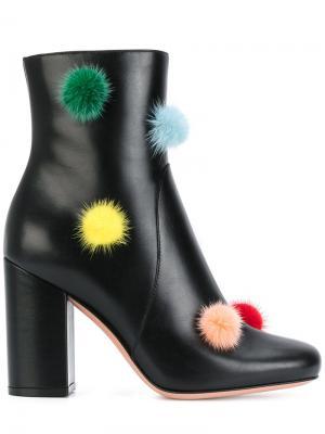 Pom trim boots Fendi. Цвет: чёрный