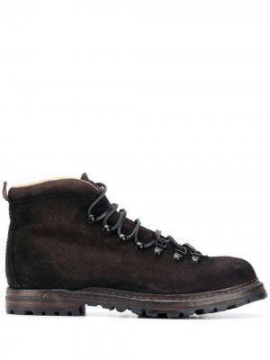 Ботинки Kontra на шнуровке Officine Creative. Цвет: коричневый