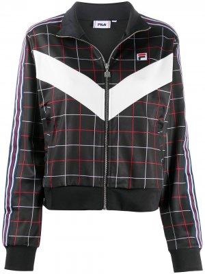 Спортивная куртка в клетку Fila. Цвет: черный