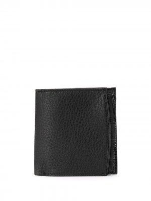 Бумажник с декоративной строчкой Maison Margiela. Цвет: черный