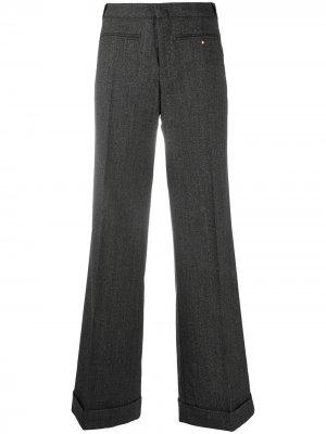 Расклешенные брюки строгого кроя Gucci Pre-Owned. Цвет: серый
