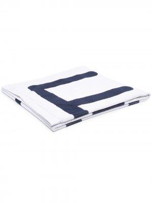 Пляжное полотенце Ea7 Emporio Armani. Цвет: белый