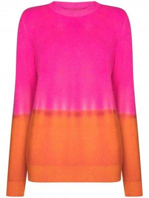 Кашемировый свитер с эффектом градиента The Elder Statesman. Цвет: розовый