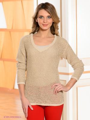 Пуловер Bandolera. Цвет: светло-бежевый