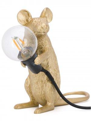 Лампа в форме мыши Seletti. Цвет: золотистый