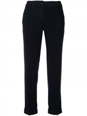 Cuff cropped trousers Aspesi. Цвет: синий