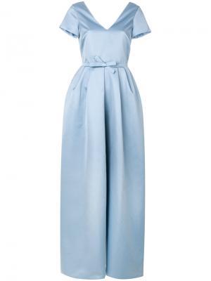 Длинное платье Rochas. Цвет: синий