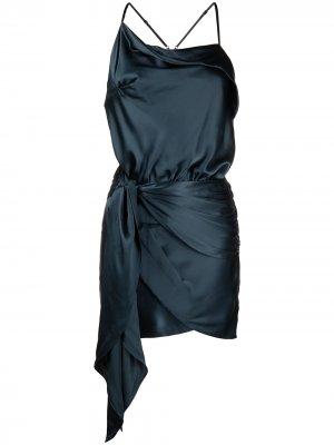 Платье мини на бретелях Michelle Mason. Цвет: синий