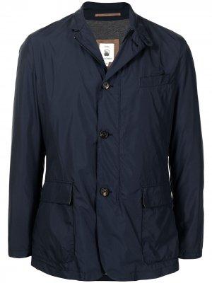Легкая однобортная куртка Colombo. Цвет: синий