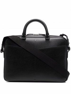 Фактурный портфель Montblanc. Цвет: черный
