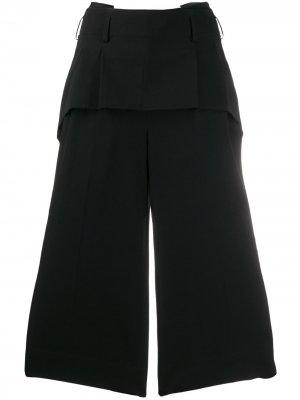 Укороченные брюки палаццо Comme Des Garçons. Цвет: черный
