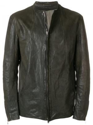 Кожаная куртка Incarnation. Цвет: серый