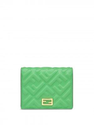 Маленький кошелек Baguette Fendi. Цвет: зеленый