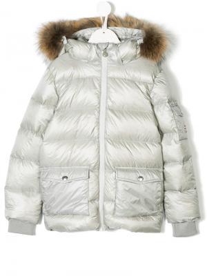 Hooded padded jacket Pyrenex Kids. Цвет: серый