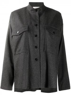 Рубашка оверсайз в тонкую полоску Barena. Цвет: серый