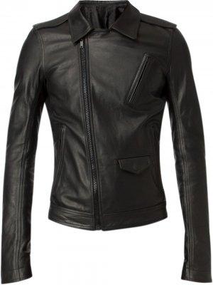 Приталенная байкерская куртка Rick Owens. Цвет: черный