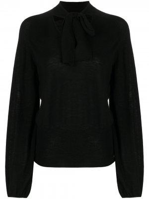 Блузка с завязками Temperley London. Цвет: черный