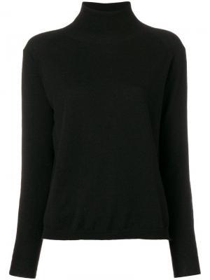 Легкий свитер с высоким воротом 8pm. Цвет: черный